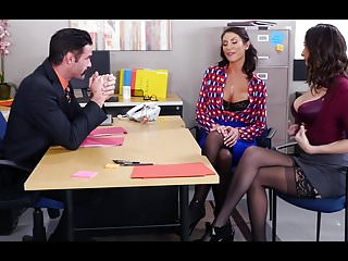 august ames ve ashley adams ofis grup sexi